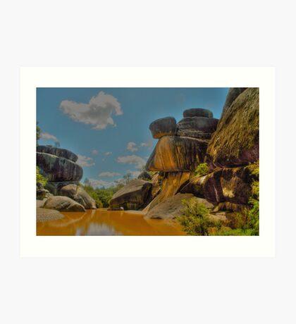 Mickey Mouse Rocks Art Print
