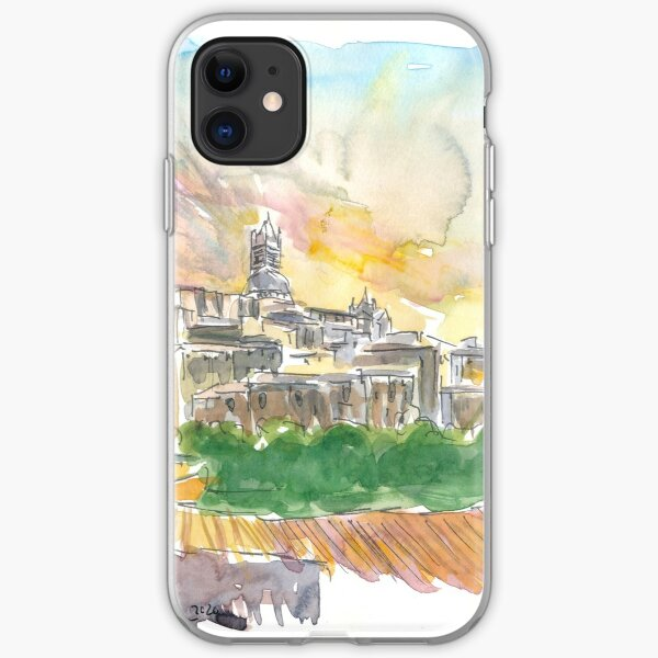 Impressive Siena Skyline From Glorious Past  iPhone Soft Case