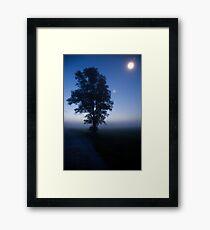 Moonlit dawn Framed Print