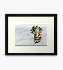 Father Christmas Old Fashioned in Snow Framed Print