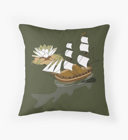 The wandering dutch. Throw Pillow