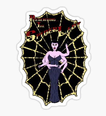 Spider Lady's Web (Stickers and Light Shirts) Sticker