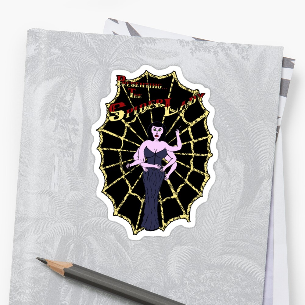 Spider Lady's Web (Stickers and Light Shirts) by Placeholder Tees
