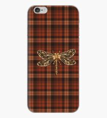 Dragonfly In Amber Inspired Plaid w. Dragonfly iPhone Case