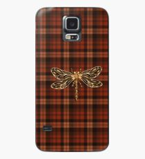 Dragonfly In Amber Inspired Plaid w. Dragonfly Case/Skin for Samsung Galaxy