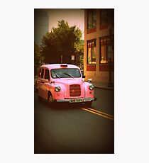 Pink Taxi Cab, Boston Photographic Print