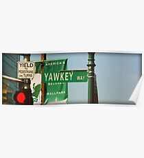 Yawkey Way Street Sign, Fenway Park Poster