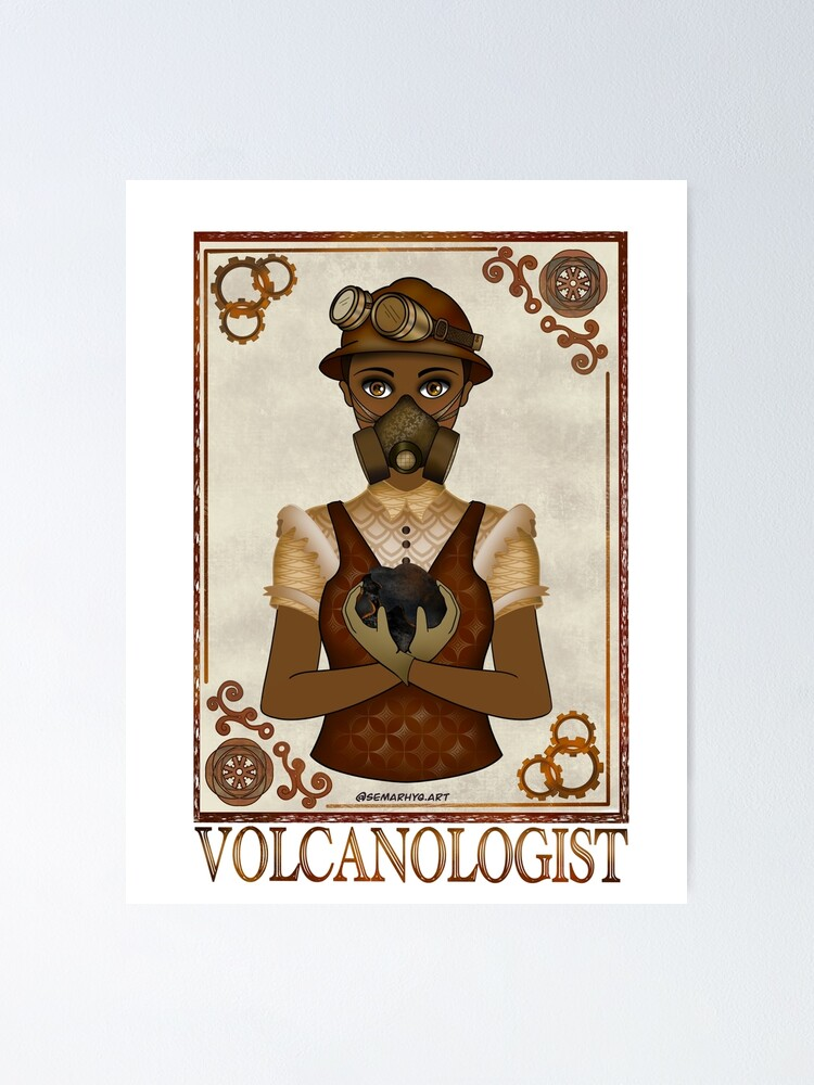 Alternate view of Volcanologist (STEAMpunk Art) Poster