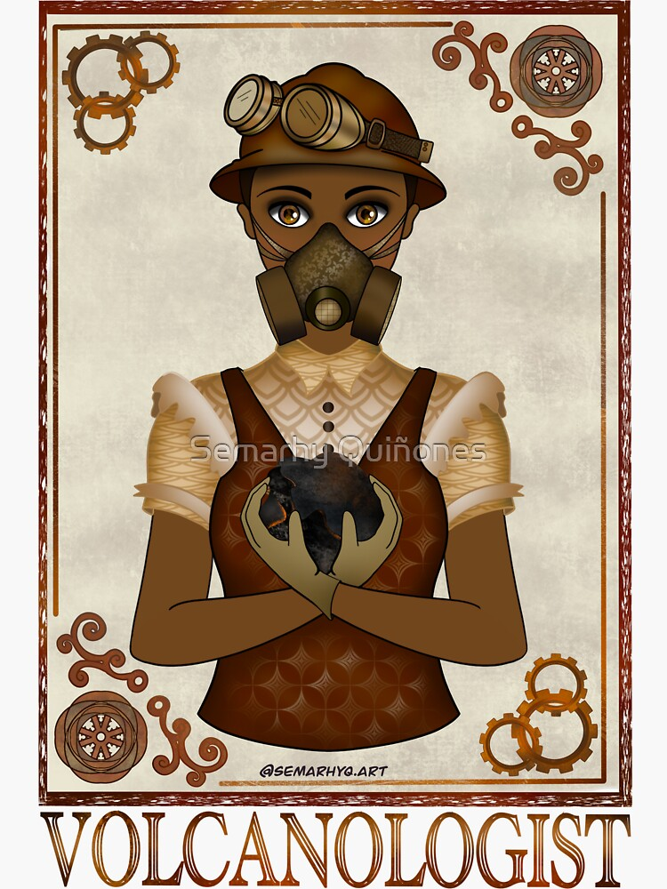 Volcanologist (STEAMpunk Art) by semarhy