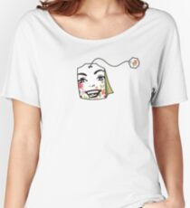 Woman's face herbal floral teabag Women's Relaxed Fit T-Shirt