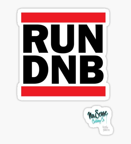 RUN DNB Design - Blk  Sticker