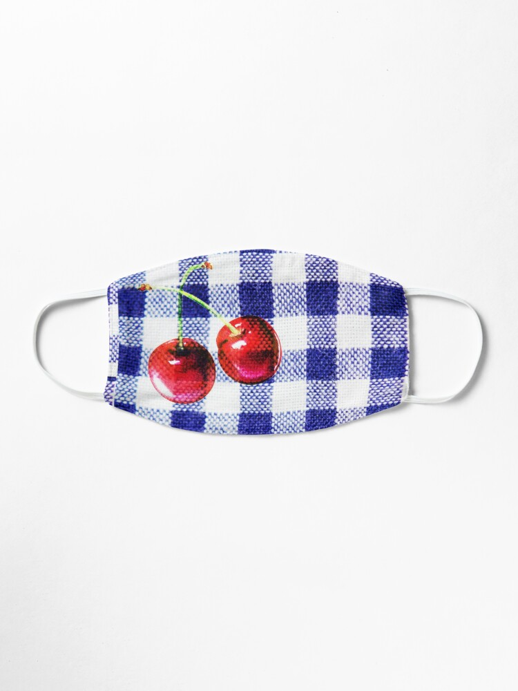 Alternate view of Cherries and Gingham Mask