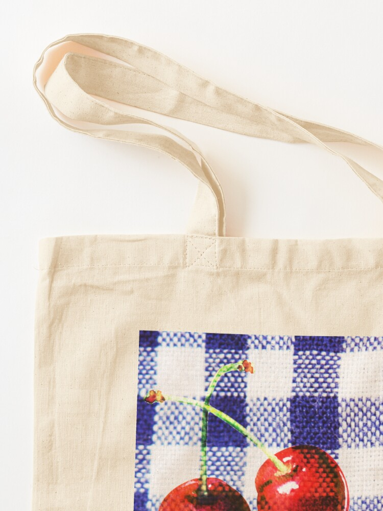 Alternate view of Cherries and Gingham Tote Bag