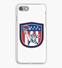 Independence Day Greeting Card-Statue of Liberty Holding Torch iPhone Case/Skin