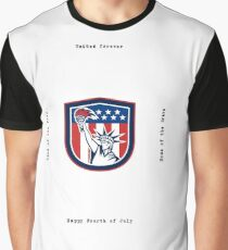 Independence Day Greeting Card-Statue of Liberty Holding Torch Graphic T-Shirt