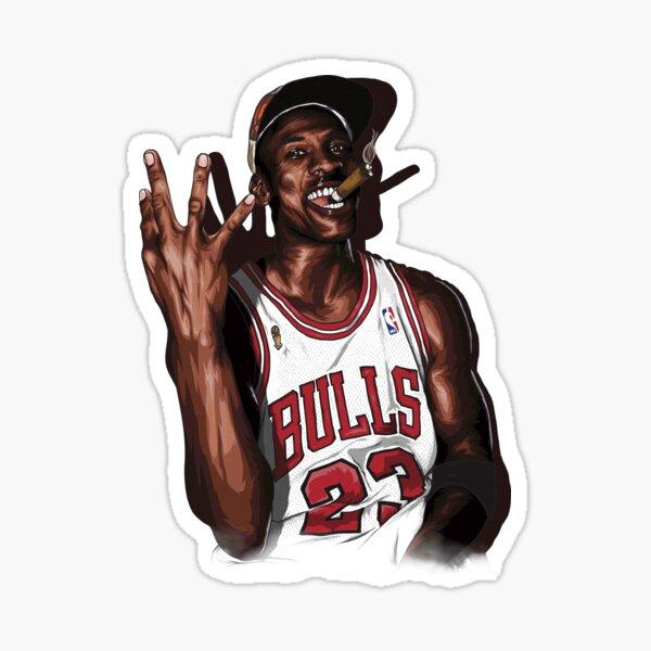 Vintage Michael Jordan Three Peat Sticker