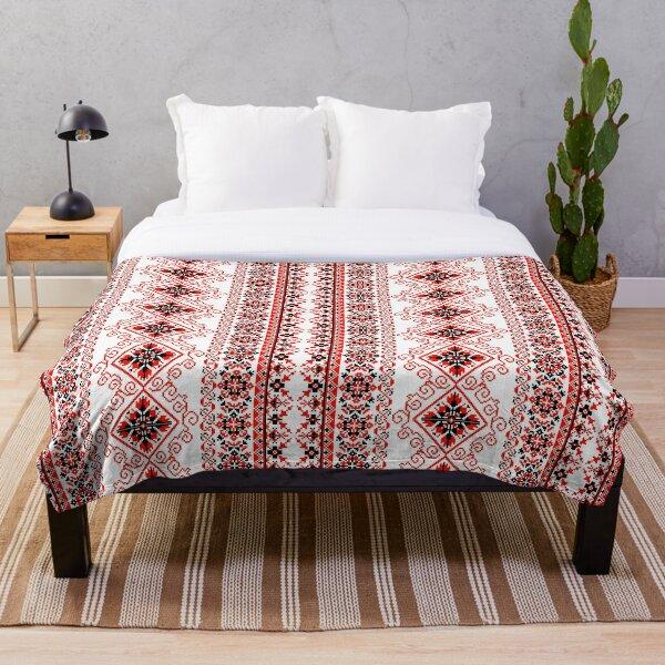 Ukrainian Embroidery  Throw Blanket