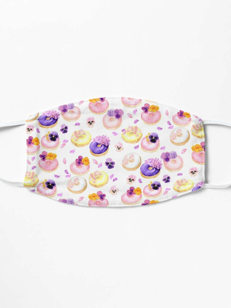 Alternate view of Floral donuts Mask