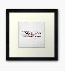 Philippians 4:13 II Framed Print