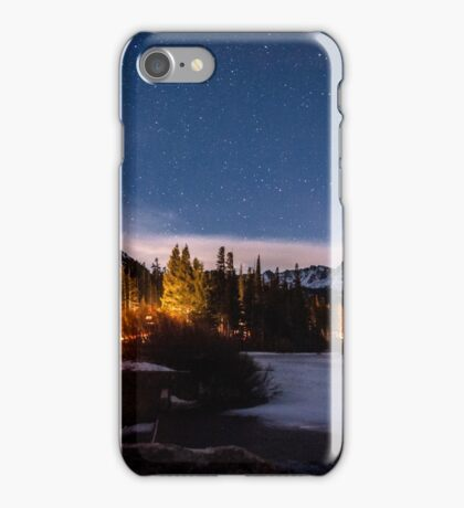 Twin Lakes at Night iPhone Case/Skin