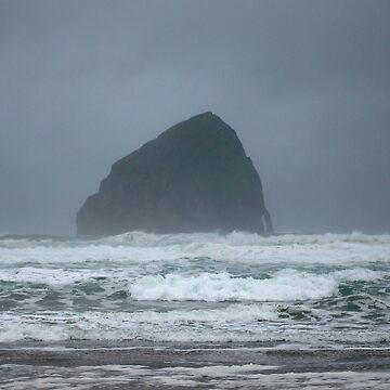 Stormy Seas at Haystack Rock by GlockGirl40