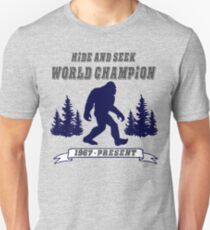 Hide and Seek World Champion Bigfoot Unisex T-Shirt