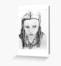 """Tuareg Girl"" Greeting Card"