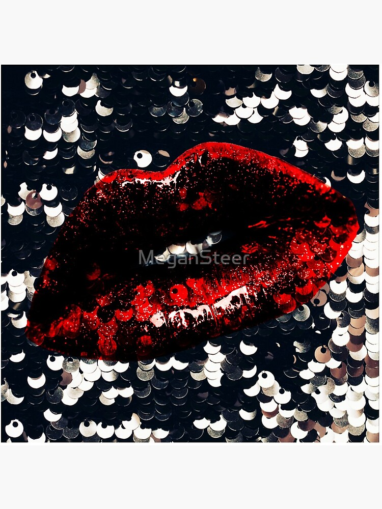 Red Lips and Sequins by MeganSteer