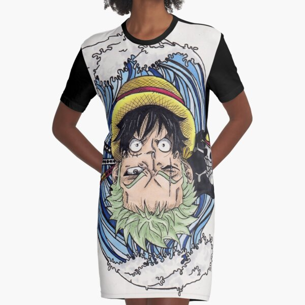 Luffy and Zoro Graphic T-Shirt Dress