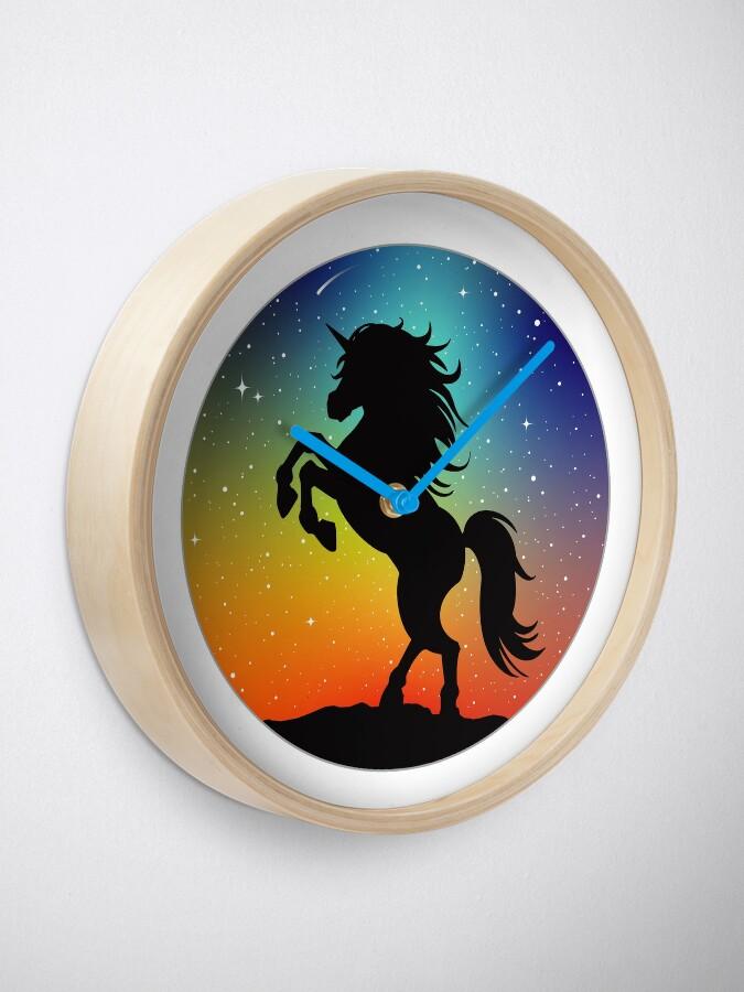 Alternate view of Unicorn Under the Night Sky Clock