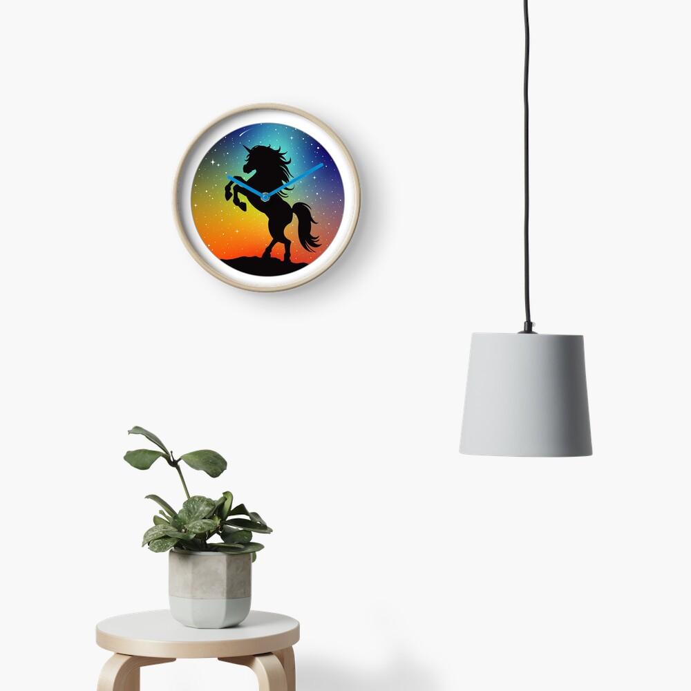Unicorn Under the Night Sky Clock