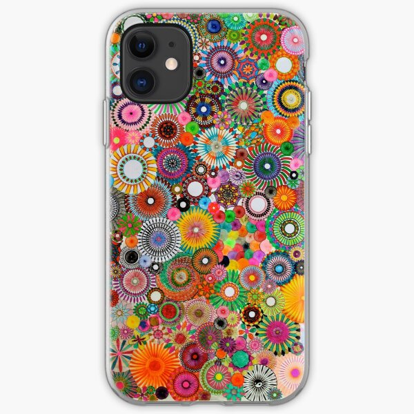 Childhood Dreams, a colourful spirograph drawing! iPhone Soft Case