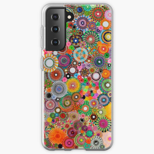 Childhood Dreams, a colourful spirograph drawing! Samsung Galaxy Soft Case