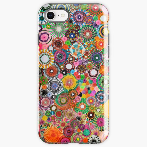 Childhood Dreams, a colourful spirograph drawing! iPhone Tough Case