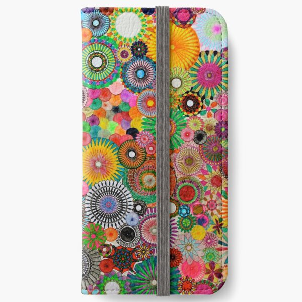 Childhood Dreams, a colourful spirograph drawing! iPhone Wallet