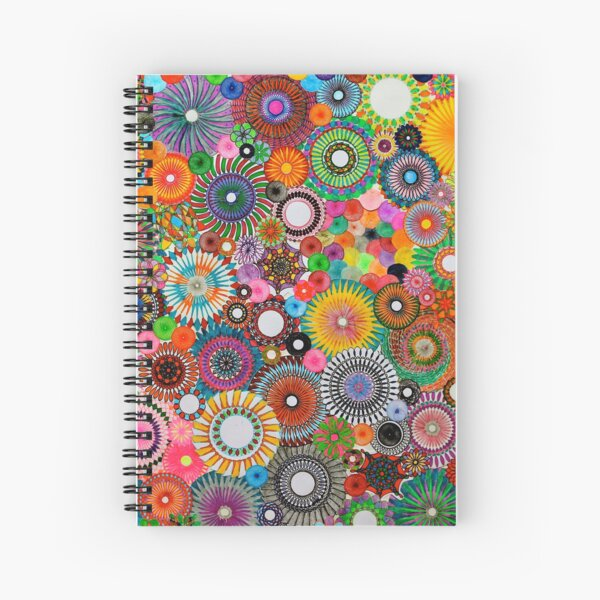 Childhood Dreams, a colourful spirograph drawing! Spiral Notebook