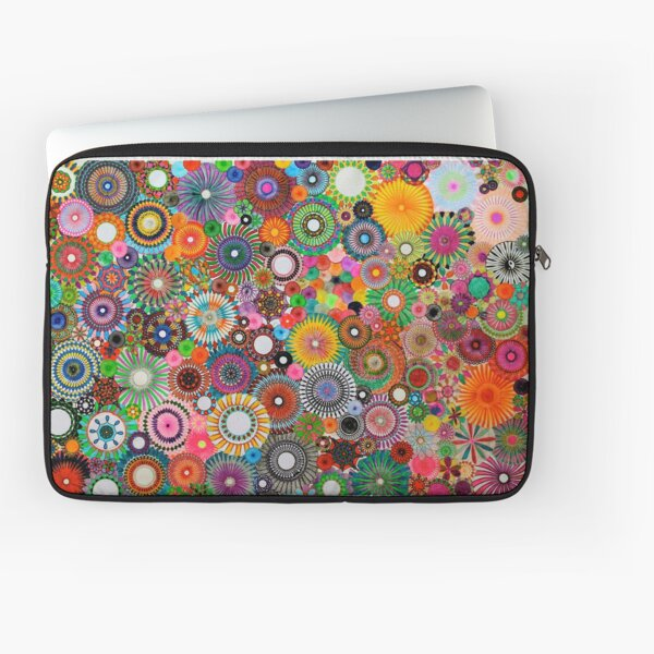 Childhood Dreams, a colourful spirograph drawing! Laptop Sleeve