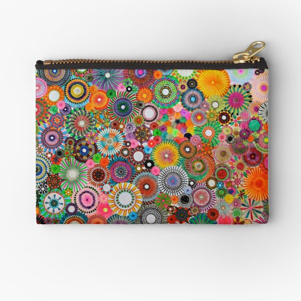 Childhood Dreams, a colourful spirograph drawing! Zipper Pouch