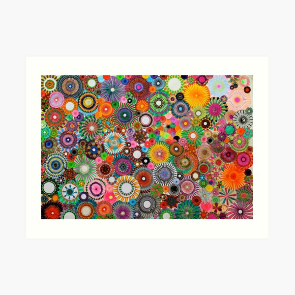 Childhood Dreams, a colourful spirograph drawing! Art Print