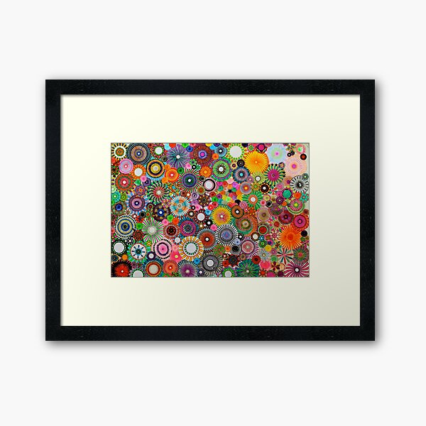 Childhood Dreams, a colourful spirograph drawing! Framed Art Print
