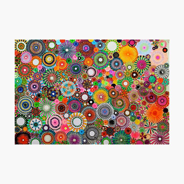 Childhood Dreams, a colourful spirograph drawing! Photographic Print