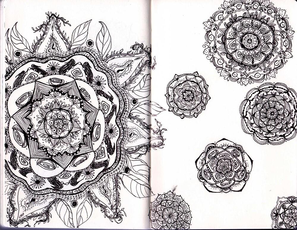 Mandalas in a Sketchbook by asinglenote