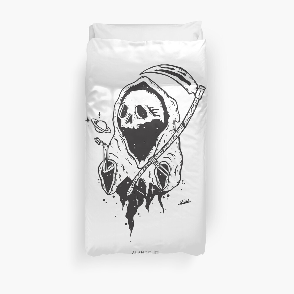 If a man has no purpose his life is just continuous death Duvet Cover