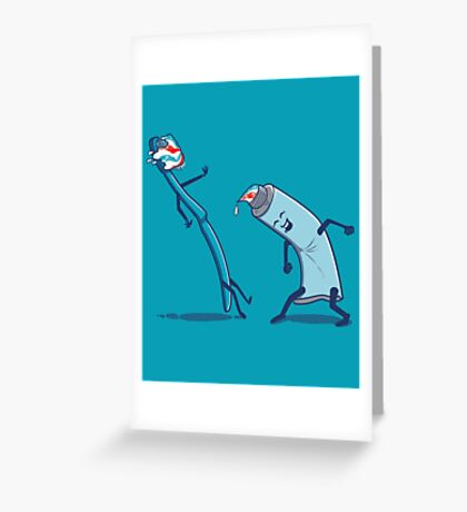 In your face!! Greeting Card