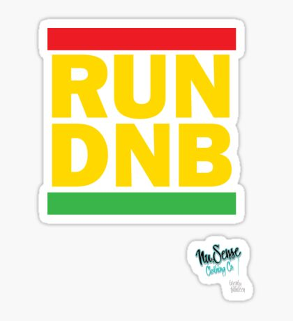 RUN DNB Design - R Sticker