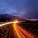 U.S. Hwy. 395 Light Trails by Cat Connor