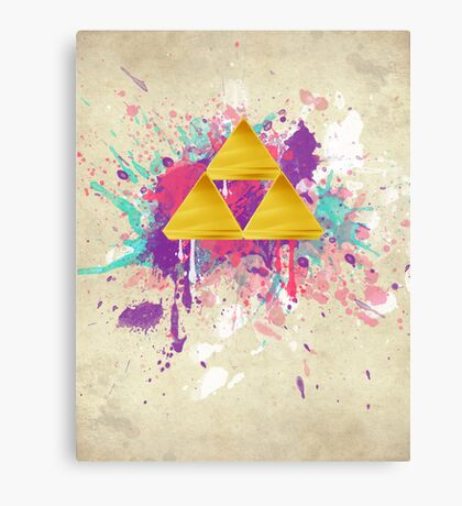 Triforce Splash Canvas Print