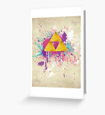 Triforce Splash Greeting Card