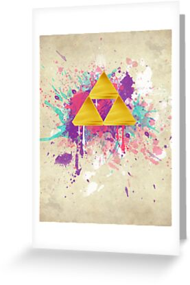 Triforce Splash by Brittany Houston