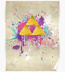 Triforce Splash Poster